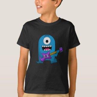 Cute Blue Monster Guitarist T-Shirt