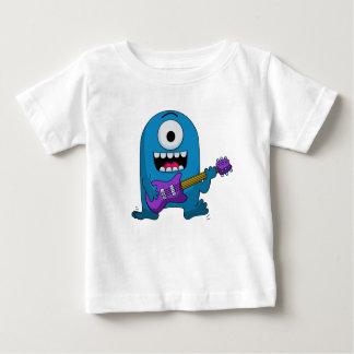 Cute Blue Monster Guitarist T-shirt