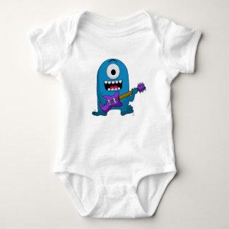 Cute Blue Monster Guitarist Tee Shirt