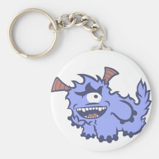 Cute Blue Monster Keychain