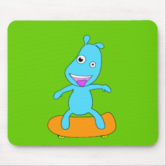 cute blue monster mouse pad