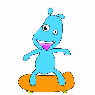 Cute blue monster statuette