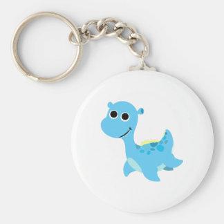 Cute Blue Nessie Keychain