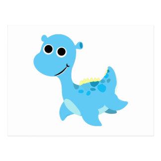 Cute Blue Nessie Postcard