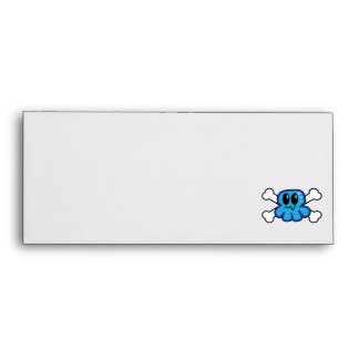 cute blue octopus and crossbones envelopes