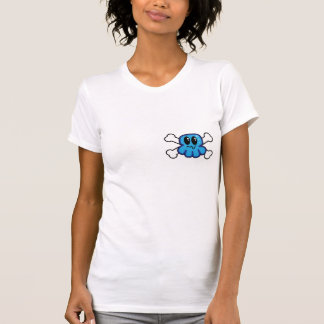 cute blue octopus and crossbones tshirts