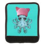 Cute Blue Octopus Wearing Pussy Hat Handle Wrap