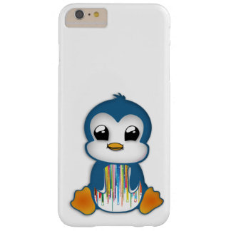 Cute blue orange penguin barely there iPhone 6 plus case