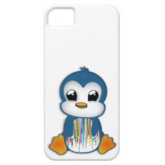 Cute blue orange penguin iPhone 5 cover