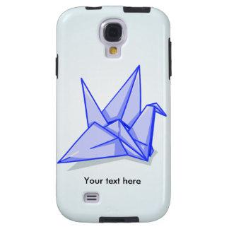 Cute blue origami paper crane galaxy s4 case