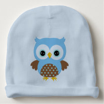 Cute Blue Owl Baby Beanie