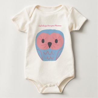 Cute Blue Owl Baby Onsie Gift Baby Shower Idea Baby Bodysuit