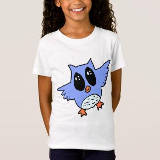 Cute blue Owl Cartoon T-Shirt