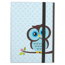Cute Blue Owl Cover For iPad Air