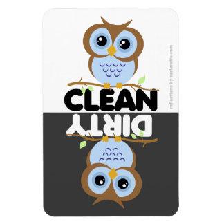 Cute Blue Owl Dishwasher Magnet