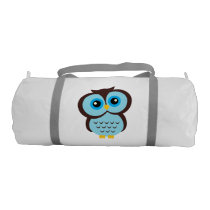 Cute Blue Owl Gym Bag