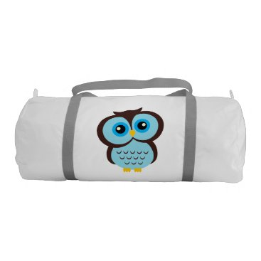 heartlocked Cute Blue Owl Gym Bag