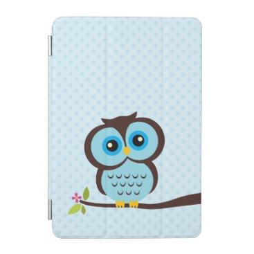heartlocked Cute Blue Owl iPad Mini Cover