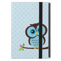 Cute Blue Owl iPad Mini Cover