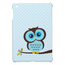 Cute Blue Owl iPad Mini Covers