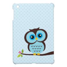 Cute Blue Owl Ipad Mini Covers at Zazzle