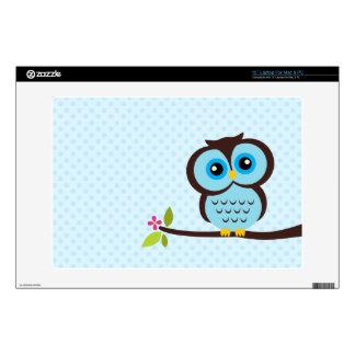 Cute Blue Owl Laptop Decal