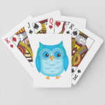 """Cute Blue Owl Playing Cards<br><div class=""""desc"""">Have a hoot of a time with these cute blue and green owl playing cards.</div>"""