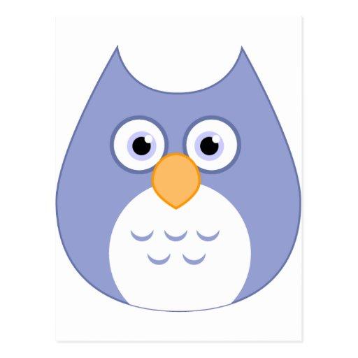 Cute Blue Owl Postcard
