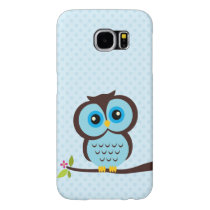 Cute Blue Owl Samsung Galaxy S6 Case