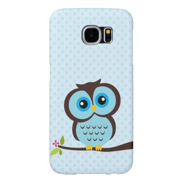 heartlocked Cute Blue Owl Samsung Galaxy S6 Case
