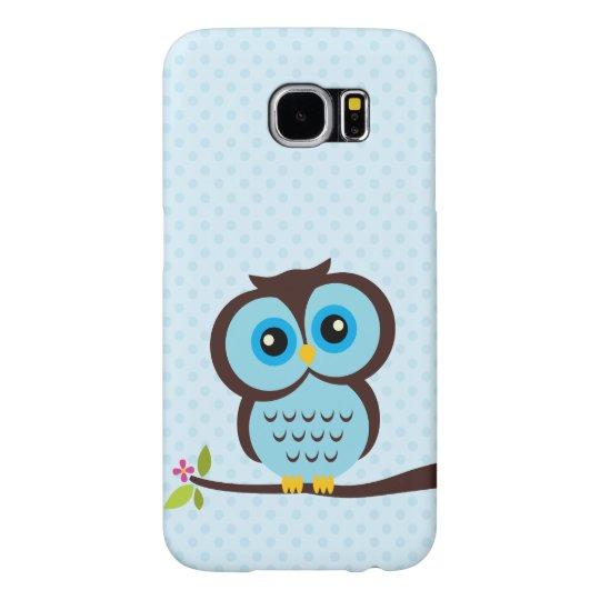 Cute Blue Owl Samsung Galaxy S6 Case