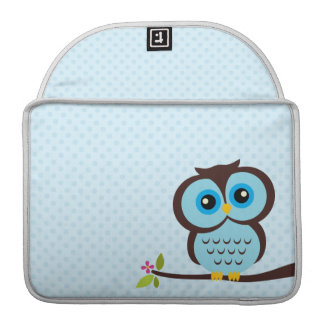 Cute Blue Owl Sleeve For MacBook Pro