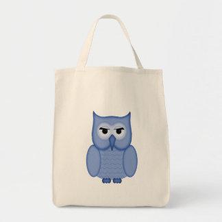 Cute Blue Owl Tote Bag