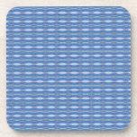 cute blue pattern design beverage coaster