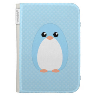 Cute Blue Penguin Kindle 3G Cover