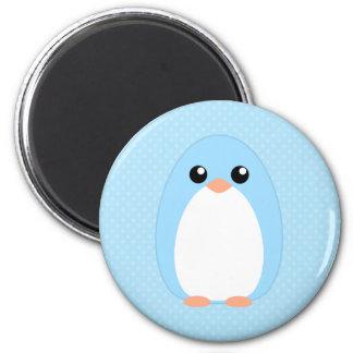 Cute Blue Penguin 2 Inch Round Magnet