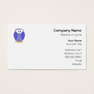 Cute Blue Penguin. Penguin Cartoon. Business Card