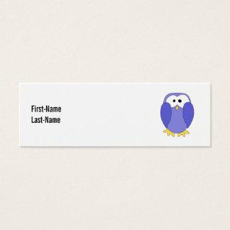 Cute Blue Penguin. Penguin Cartoon. Mini Business Card