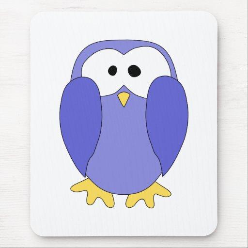 Cute Blue Penguin. Penguin Cartoon. Mousepads