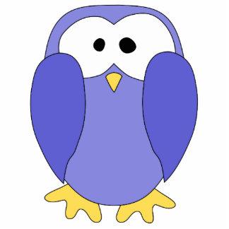 Cute Blue Penguin. Penguin Cartoon. Photo Sculpture