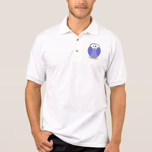 Cute Blue Penguin. Penguin Cartoon. Polo T-shirts