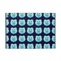 Cute Blue Pig Pattern iPad Mini Case