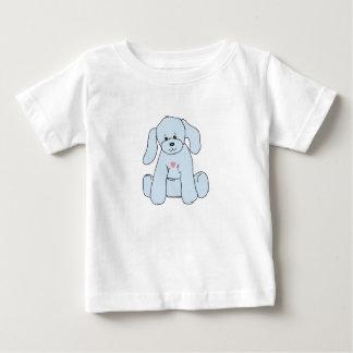 Cute blue puppy on toddler tshirt