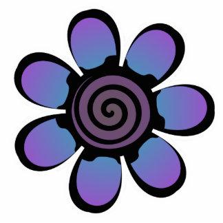 Cute Blue Purple Flower Magnet