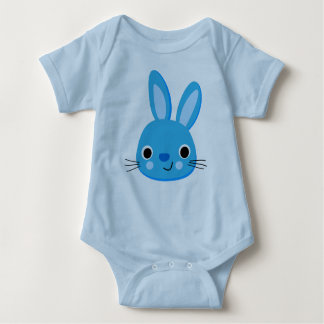 Cute Blue Rabbit Bodysuit