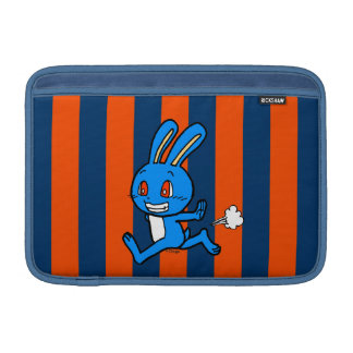 Cute blue rabbit running MacBook sleeves