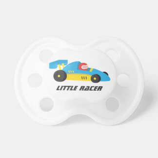 Cute Blue Race Car for The Little Racer Pacifier