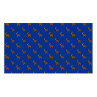 Cute blue reindeer pattern business cards