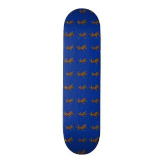 Cute blue reindeer pattern custom skate board
