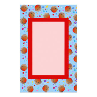 Cute Blue Robin Red Breast Pattern note paper Custom Stationery